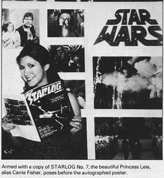 """becketts: """"""""Carrie Fisher at a Star Wars promotion party in """" """" Star Wars Cast, Star Wars Film, Star Trek, Carrie Frances Fisher, Princes Leia, Alec Guinness, Han And Leia, Solo Photo, Star Wars Pictures"""