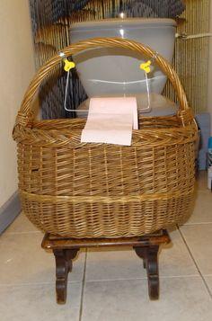 Panier : dérouleur de papier toilette avec réserve