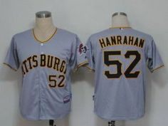 mlb pirates 52 joel hanrahan grey cool base stitched jersey