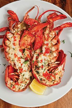 Wood Oven Roasted Maine Lobster with Local Oregano and Lemon. Fun Easy Recipes, Vegan Recipes, Easy Meals, Lobster Recipes, Seafood Recipes, Grilling Recipes, Cooking Recipes, Cooking Fish, Steamed Lobster