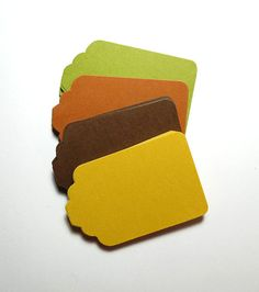 Tags Green Brown Yellow Paper Cardstock por LaurelPhotoandCraft, $4.00