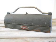 Vintage Craftsman Tool Box  Industrial Round by lisabretrostyle2