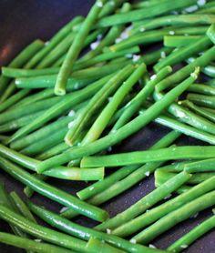 Lemony garden fresh green beans