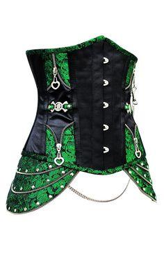 The Violet Vixen - Clockwork Hipster Emeralds, $100.80 (http://thevioletvixen.com/corsets/clockwork-hipster-emeralds/)