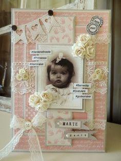 min lille scrappe-verden: Dåpskort til jente