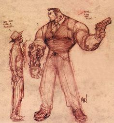joe mad character art