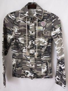 Rip Curl Jacket XL Girls Camo Print Grunge Urban Distressed Rip Curl Logos #RipCurl #BasicJacket #Everyday