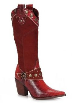Bota Country Tucson P445 - Vermelho Farm Fashion, Fashion Shoes, Tucson, Bota Country, Country Outfits, Riding Boots, Boho, My Style, Cowboys