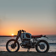 A bike, a beach, and the Golden Hour. Wish you were there? bmw motorcycles