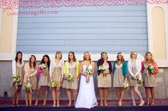 This is one of my most favorite weddings I've found on any blog. The sweet cardis are just the beginning :)