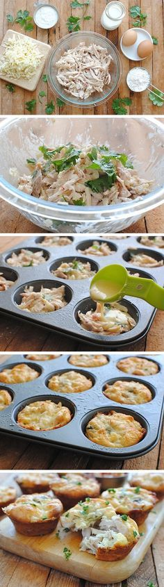 Mini Tex-Mex Chicken and Cheese Pies
