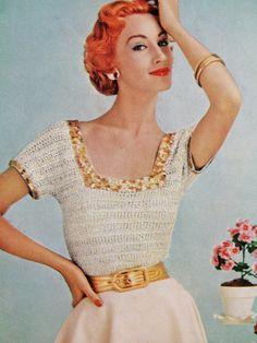 1950s Vintage Crochet