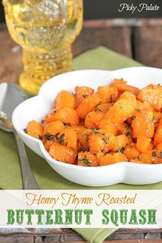 Honey Thyme Roasted Butternut Squash #vegan