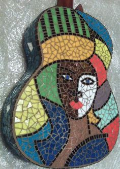Mosaic Guitar_back zoom by BrokenArtDesigns-US