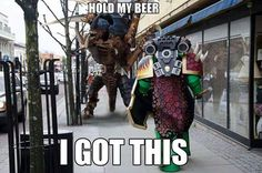Carnifex and Space Marine by dlshadowwolf on DeviantArt Warhammer 40k Memes, Warhammer Fantasy, Warhammer 40000, Tyranids, Battle Games, Video Game Memes, Image Fun, Game Workshop, Sci Fi Characters
