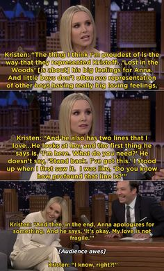 """Heck, Kristen Bell even told Jimmy Fallon on The Tonight Show that Kristoff's arc is the thing she's most proud of from Frozen Everyone Is Calling Kristoff The Best Disney Prince After """"Frozen And Here's Why Disney And Dreamworks, Disney Pixar, Disney Marvel, Disney Frozen, Disney Theory, Plus Tv, Disney Jokes, Princesas Disney, Disney Magic"""