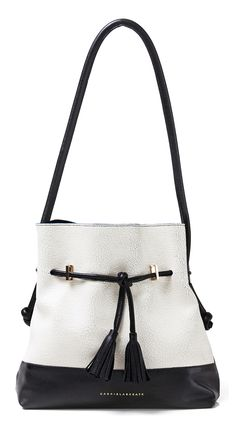GABRIELA SAKATE | MARION BAG IN BLACK AND WHITE CRAQUELE INK LEATHER