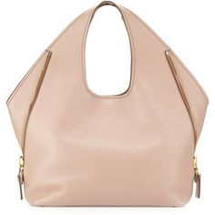 TOM FORD Jennifer Side-Zip Medium Leather Hobo Bag