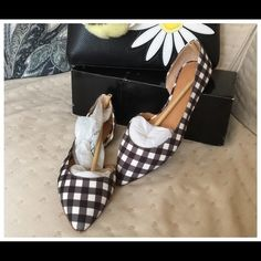NIB, JCrew Gingham D'Orsay Flats New in box, JCrew Gingham D'Orsay Flats!! Presented in a gorgeous black & white gingham; the hottest trend for spring & summer! They are so perfect to dress up or down; pair with toothpick jeans, capris, skirts, shorts! The possibilities are as endless as the compliments you will be receiving!!  J. Crew Shoes Flats & Loafers