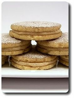 Chai Spiced Shortbread Cookies with espresso and chai spice filling