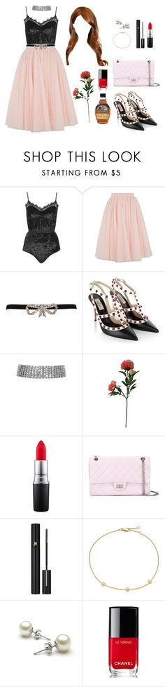 """""""Cheryl Blossom Inspired Outfit"""" by twyzter ❤ liked on Polyvore featuring Topshop, Ted Baker, Temperley London, Valentino, Threshold, MAC Cosmetics, Chanel and Lancôme"""