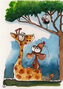 Crow sits in the Baobab tree and tells Giraffe and Mouse a story about the African plains... I wish I was there... Enjoy!