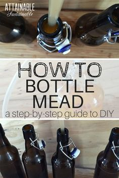 Homebrewing fermenter Homebrewing mead Into fermentation Bottling mead is the final step in mead making. these easy step by step instructions to learn how to bottle mead.