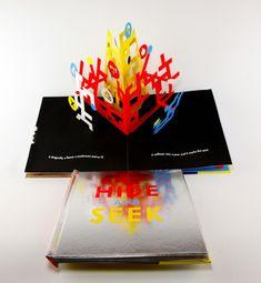 David A. Carter establish Hide amp Seek PopUp Book by David A Carter David Carter, Book Design, Nonfiction, Pop Up, Templates, Cool Stuff, Projects, Image, Music