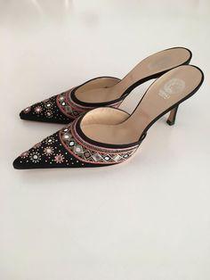 Catawiki online auction house  Versace - High heel shoes Zwarte Zijde c2c5b7020f