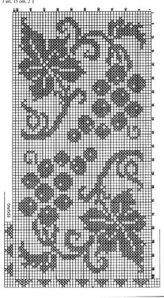 Photo from album Crochet Curtains, Crochet Quilt, Crochet Home, Knit Crochet, Filet Crochet Charts, Crochet Stitches, Crochet Patterns, Hand Embroidery Design Patterns, Cross Stitch Patterns