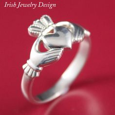 Claddagh ring. Ladies 10k white gold Claddagh Celtic Ring by IrishJewelryDesign on Etsy https://www.etsy.com/listing/175278801/claddagh-ring-ladies-10k-white-gold