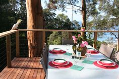 Sea Zen sister property at Wye River is Treetops, a house in the trees for the whole family. Luxury Spa, In The Tree, Zen, Design Inspiration, River, Trees, House, Home, Tree Structure