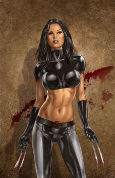 X-23 by *MitchFoust on deviantART    [Though, seriously, her boobs are out of control. But I loves X-23 always and forever]