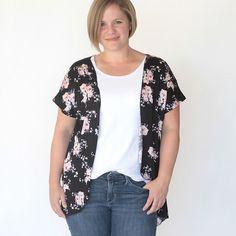 the breezy tee kimono {easy sewing tutorial}