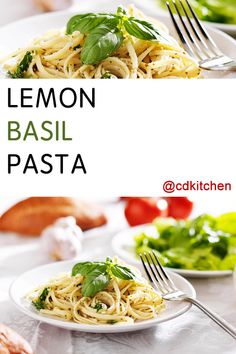 Lemony pasta is a welcome alternative to heavy, tomato sauce-laden noodles. The trifecta of basil, lemon juice, and parmesan makes a light yet flavorful dish. Lemon Butter Sauce Pasta, Basil Pasta Sauce, Pasta Sauce Recipes, Pasta With Basil, Tomato Sauce, Light Pasta Recipes, Garlic Parmesan Pasta, Lemon Garlic Pasta, Garlic Salt