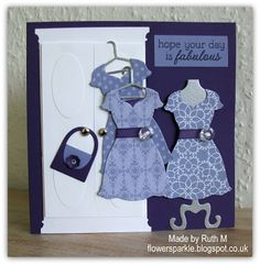 Flower Sparkle: Wardrobe & Dresses Birthday Card  Not SU! only but does use Dress Up Framelits dies, SU! CS, ink and DSP