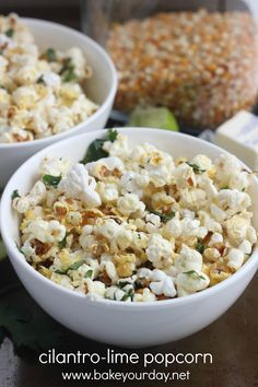 cilantro-lime popcorn from @Cassie Laemmli | Bake Your Day