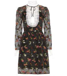 Erdem Katy Silk Fil Coupé Dress For Spring-Summer 2017
