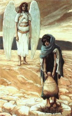 Hagar and the Angel in the Desert - James Tissot