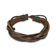 Add rugged style to your look with this twisted leather bracelet. This cool, casual bracelet also makes a great gift for any of the men in your life on birthdays or other special occasions. The neutra Faux Piercing, Piercing Plug, Braided Bracelets, Bracelets For Men, Jewelry Bracelets, Jewelry Gifts, Men's Jewelry, Beaded Jewelry, Handmade Jewelry