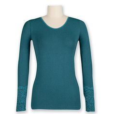 Aventura Floral Long Sleeve Top - Womens - at Outdoormountainspirit.com Floral Leggings, Style Guides, Long Sleeve Tops, Lounge, Turquoise, Stylish, Lady, Sleeves, Sweaters