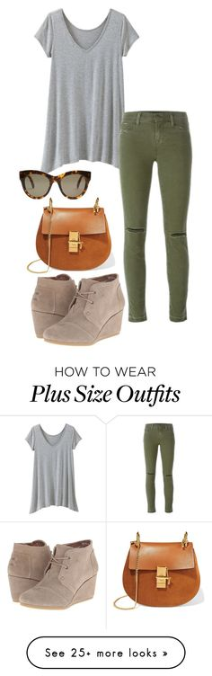 """""""A day in town"""" by ilcbeauty101 on Polyvore featuring TravelSmith, J Brand, STELLA McCARTNEY, Chloé, TOMS and plus size clothing"""