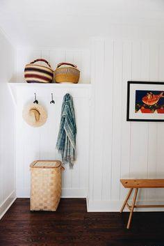 built in shelves + hooks