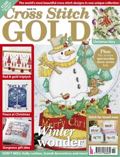 Buy Cross Stitch Gold, Issue 114 on our Newsstand or get the subscription to the digital magazine and read it anywhere, anytime. Xmas Cross Stitch, Cross Stitch Books, Beaded Cross Stitch, Cross Stitching, Cross Stitch Embroidery, Cross Stitch Designs, Cross Stitch Patterns, Cross Stitch Magazines, Cross Stitch Collection