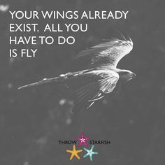 YOUR WINGS ALREADY EXIST. ALL YOU HAVE TO DO IS FLY Check out our latest #ThrowStarfish #Podcast Episode link on our profile . . . . #startups #SuccessQuotes #Sociality #SharingIsCaring #TrainingForLife #Inspirations #GrowthHacking #Podcasts #Entrepreneurial #Quoted #iTunesRadio #Stitcher #Sharing #MarketingStrategy #ListenUp #BusinessWomen #WomenInBusiness #FemaleEntrepreneurs #GetInspired #InspirationOfTheDay #DailyMotivation #SelfBelief #TakeAction #AnythingIsPossible #SuccessTips…