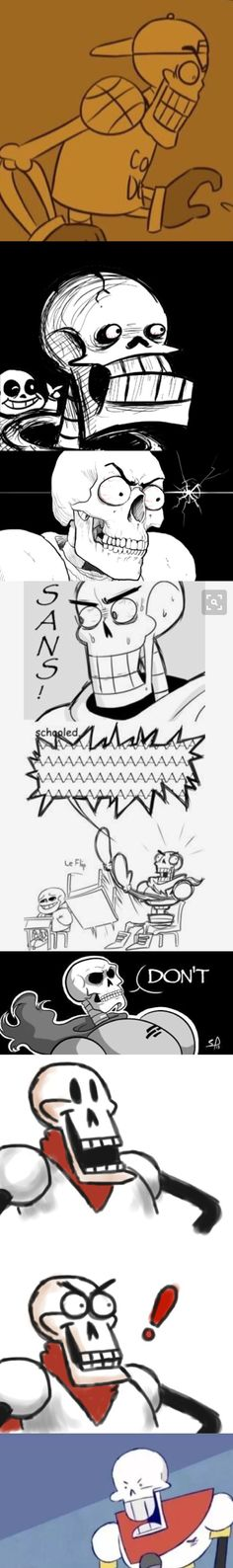 Papyrus' many reaction to puns