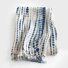 Indigo Tie-Dye Scarf by Aboubakar Fofana