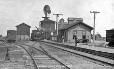 Minneapolis, St. Paul & Sault Ste. Marie (Soo Line) depot at Hoffman, Minnesota.