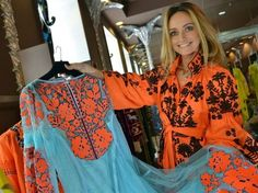 "Fashionistas the world over are snatching up a must-have item for the ""boho chic"" look -- an embroidered blouse or dress that is, in fact, Ukraine's national costume and new symbol of unity."