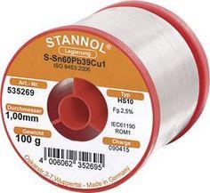 Stannol HS 10 Soldeertin, loodhoudend Spoel Sn60Pb39Cu1 100 g 1.0 mm